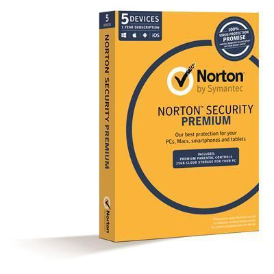 Symantec Norton Security Premium 3.0 2GB 1 User 5 Device 1 Year - Cubox Australia