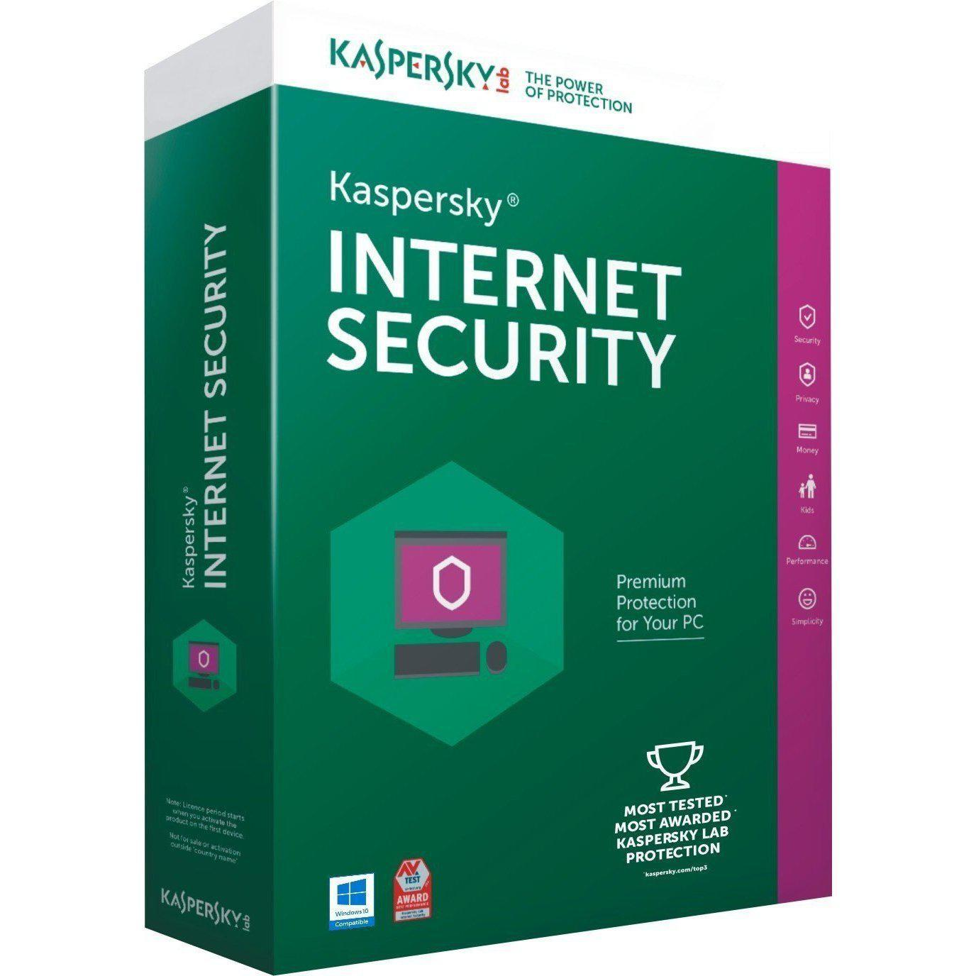 Kaspersky Internet Security 2018 3 PC 2 Year (Download)
