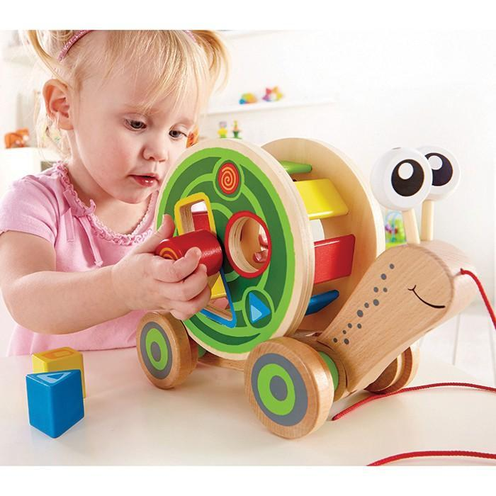 Hape Snail Pull And Play Shape Sorter