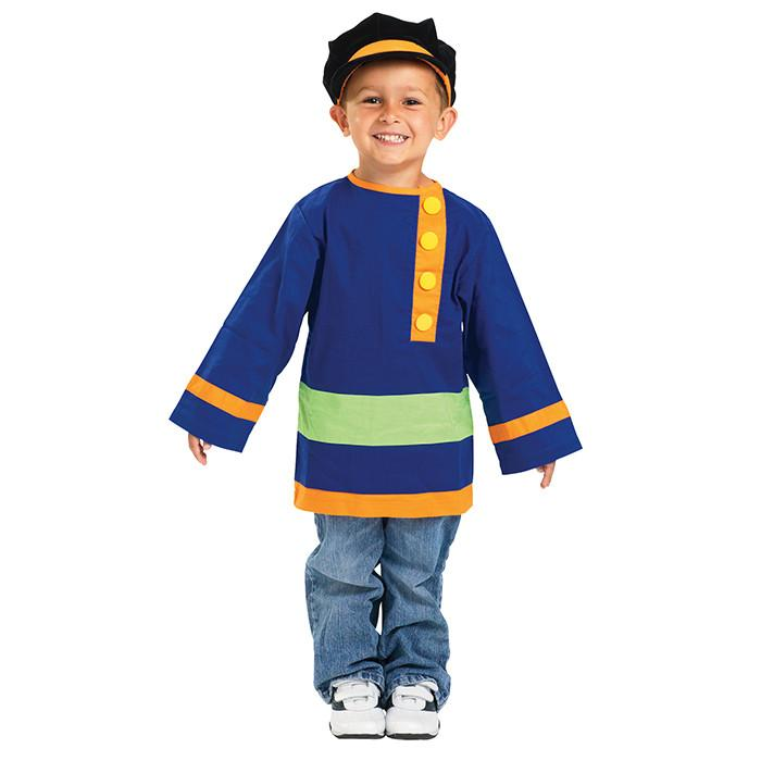 Russian Coat and Hat Kids Costume