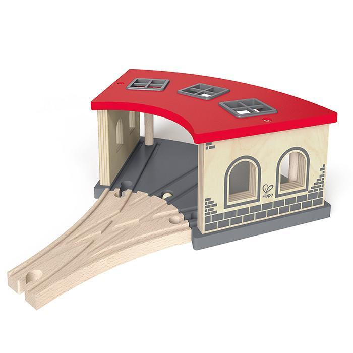 Hape Big Engine Shed 2 Pieces