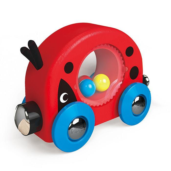 Hape Lucky Ladybug and Friends Train 3 Pieces