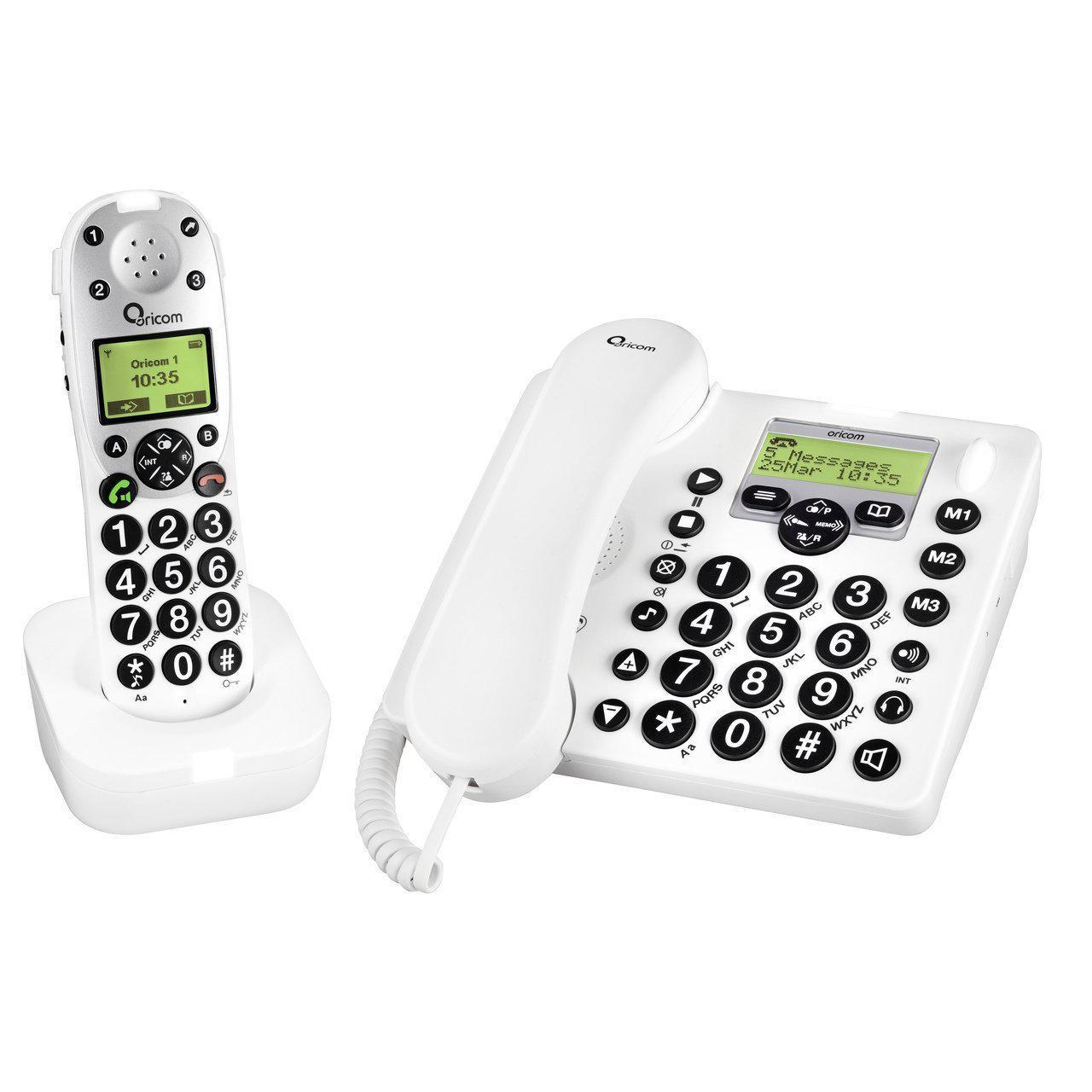 Oricom Pro 910- 1 Amplified Phone Combo with Answering Machine
