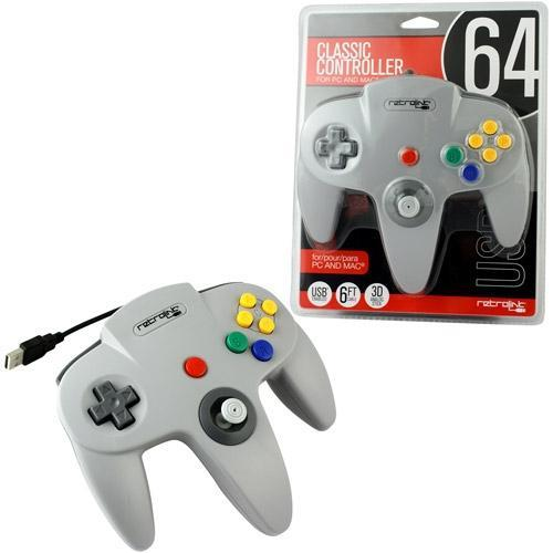 Wired N64 Style USB Controller for PC & MAC Grey