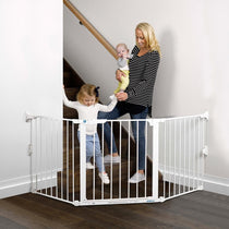 Childcare Baby Child Safety Gate Pet Barrier Flexi Gate - Cubox Australia