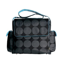 Oioi Messenger with Turquoise Lining Nappy Bag - Cubox Australia