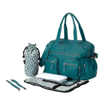 OiOi Faux Buffalo Baby Diaper Nappy Bag in Turquoise - Cubox Australia
