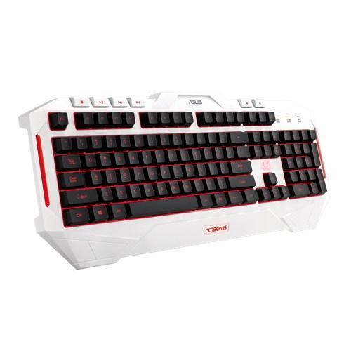 ASUS Gaming Cerberus Arctic Keyboard USB White - Cubox Australia