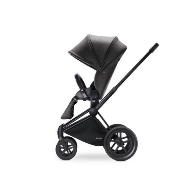 Cybex Baby Priam Luxseat Manhattan Grey ( with matt black trekking frame ) - Cubox Australia