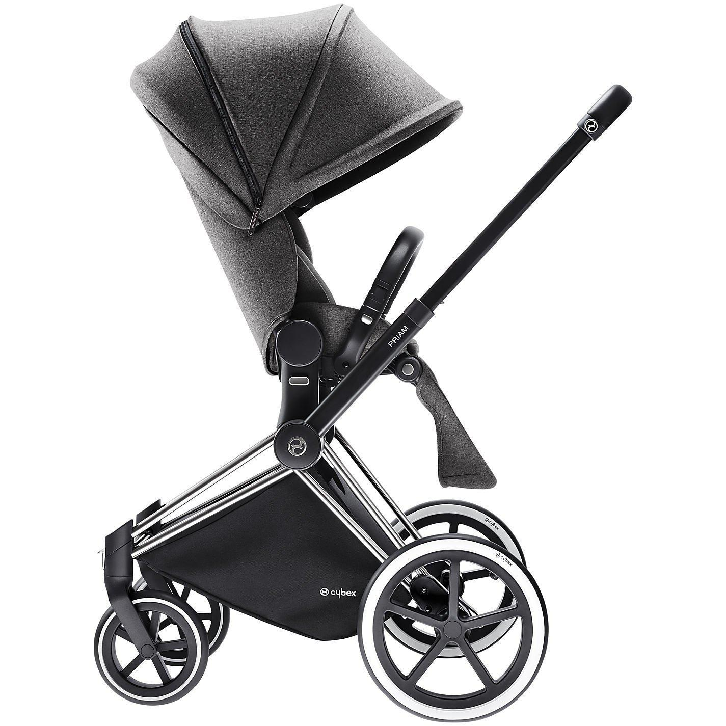 Cybex Baby Priam Luxseat Manhattan Grey ( with chrome trekking frame ) - Cubox Australia