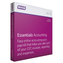 MYOB Essentials with unlimited Payroll - 1 Year subscription - Cubox Australia