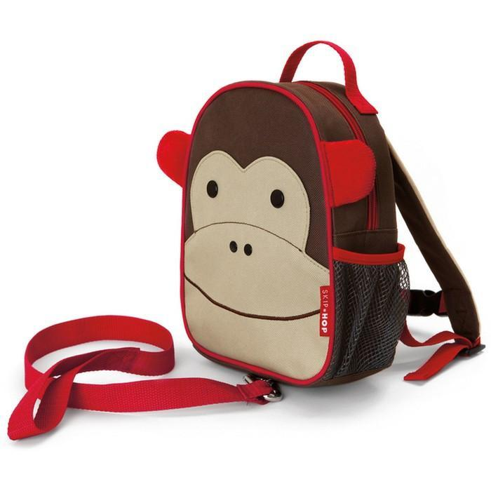 Skip Hop Monkey Zoo-Let Mini Backpack with Rein