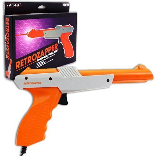 NES Controller Wired 8-Bit RetroZapper Gun Grey/Orange