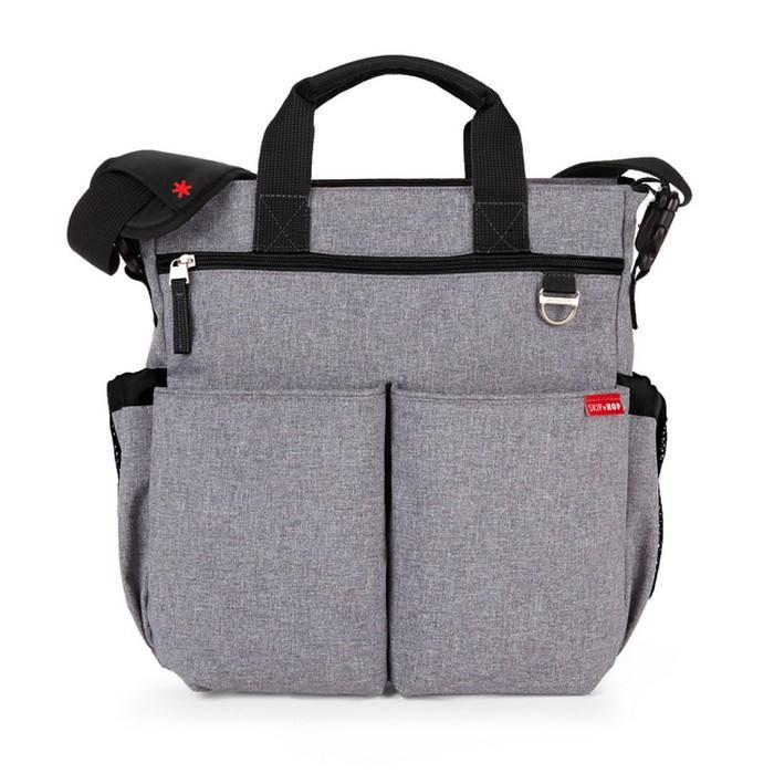 Skip Hop Duo Signature Diaper Bag Heather Grey