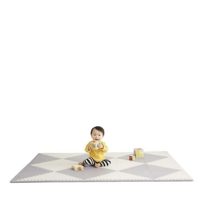 Skip Hop Playspot Geo Foam Floor Tiles Grey and Cream