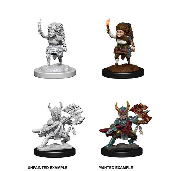 Dungeons & Dragons Nolzur's Marvelous Miniatures Female Halfling Fighter