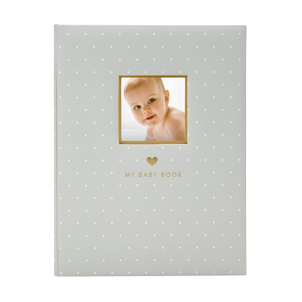 Pearhead - Sweet Welcome Baby Book - Grey