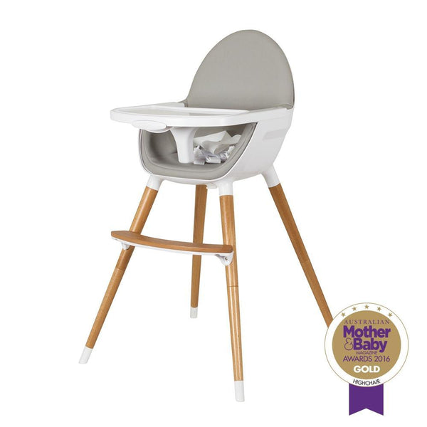 Childcare Pod Timber Highchair - Natural - Cubox Australia