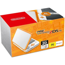Nintendo 2DS XL Console White Orange - Cubox Australia