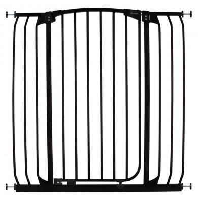 Dreambaby Chelsea Xtra Tall and Xtra Wide Hallway Auto Close Security Gate Black
