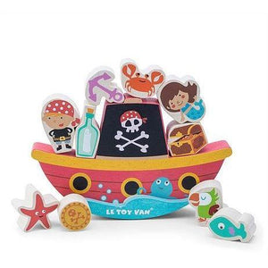 Le Toy Van Pirate Balance 'Rock'N' Stack' - Cubox Australia