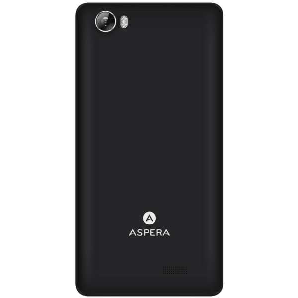 "Aspera A50 Smartphone (4G/LTE, 5.0"", 16GB) - Black + Bonus Rose Gold Cover"