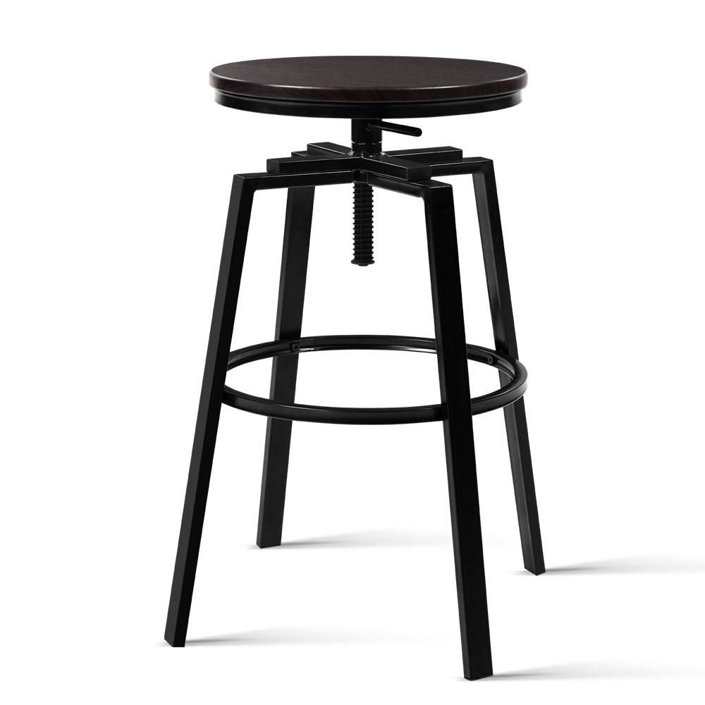 Artiss 2 x Vintage Bar Stools Retro Kitchen Swivel Bar Stool Industrial Rustic