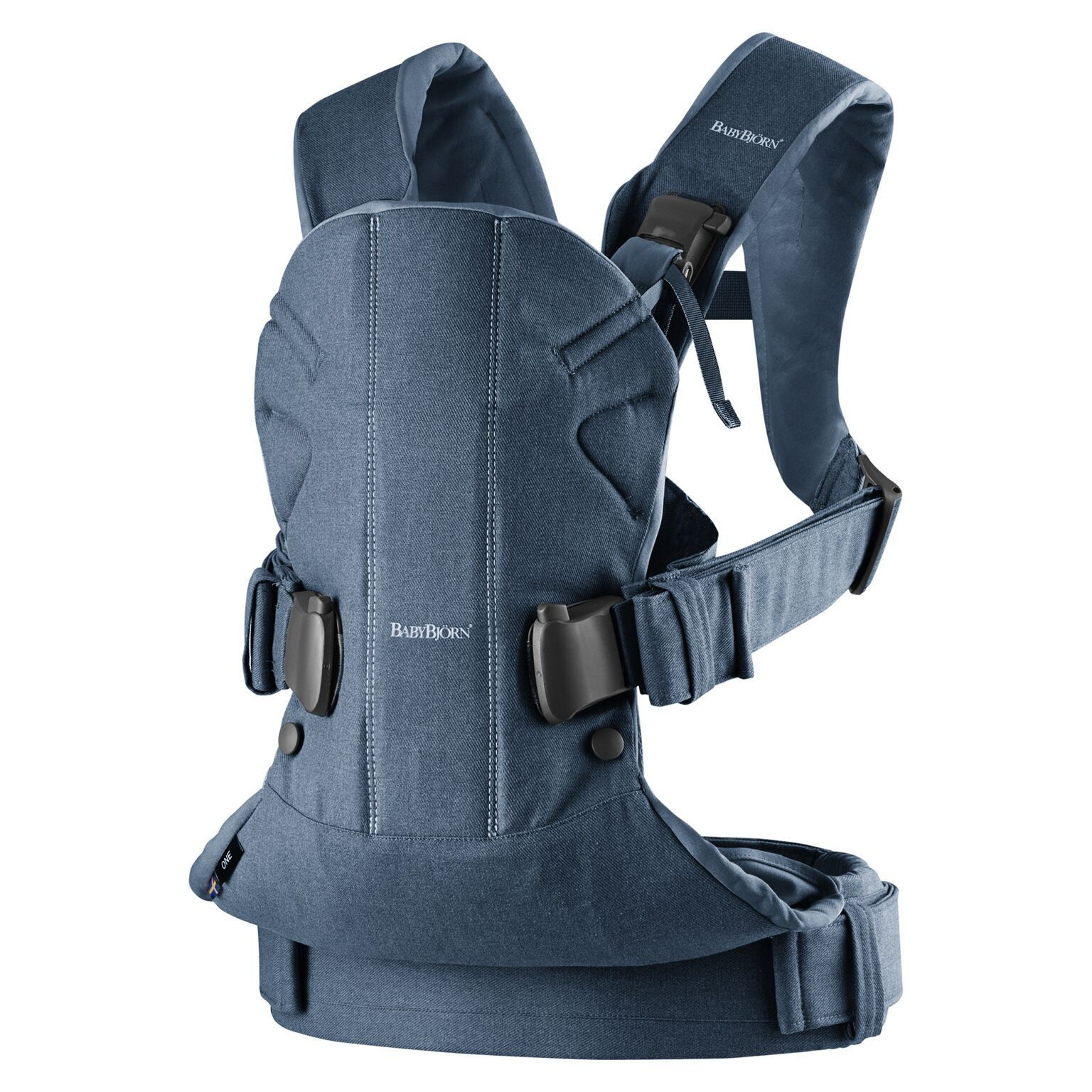 BabyBjorn Baby Carrier One Version 2018 Denim Midnight Blue Cotton Mix