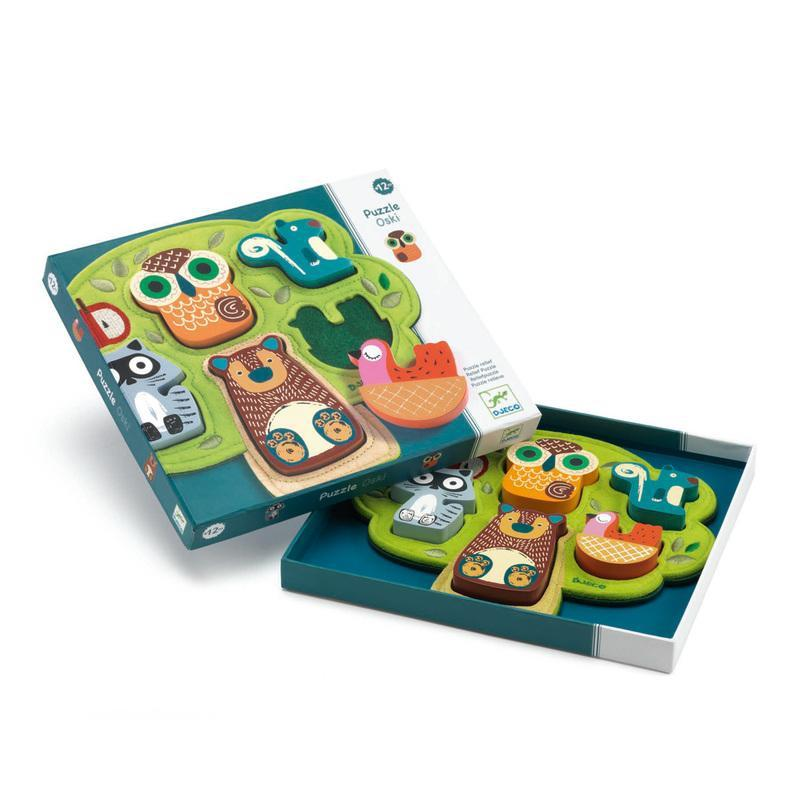 Djeco Wooden and Felt Puzzle Oski