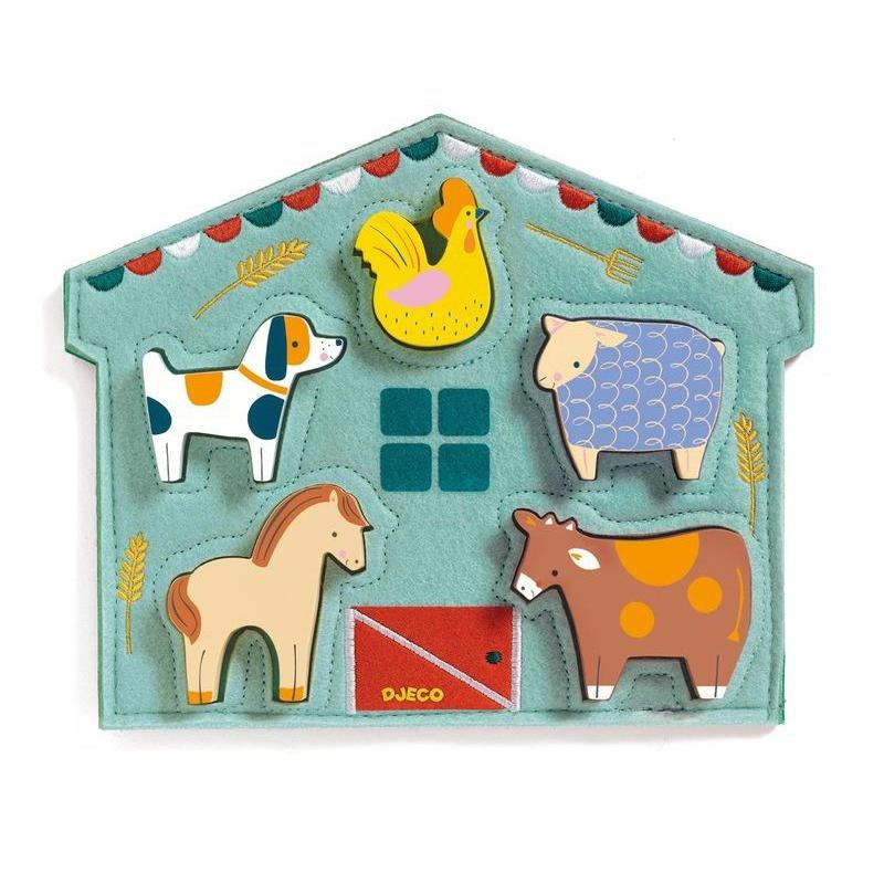 Djeco Wooden and Felt Puzzle Mowy