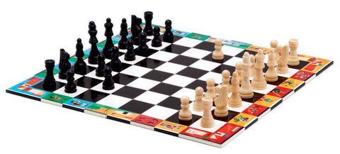 Djeco Chess & Checkers Game