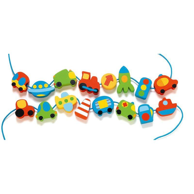 Djeco Vehicles Wooden Beads