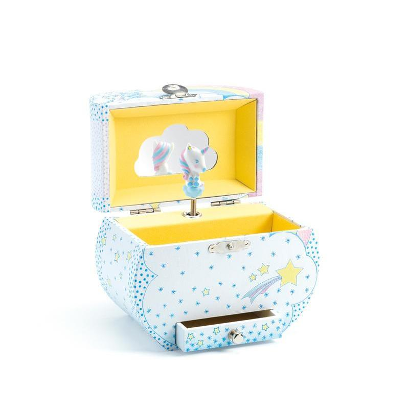 Djeco Unicorn Dreams Music Box with Drawer