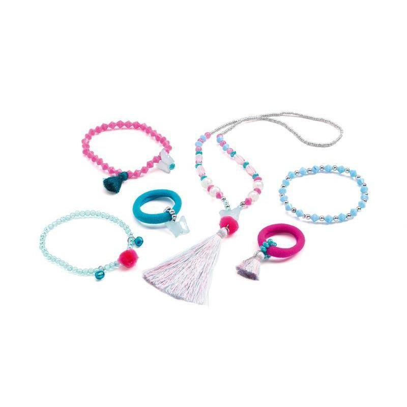 Djeco Pompoms And Butterflies Kids Jewellery