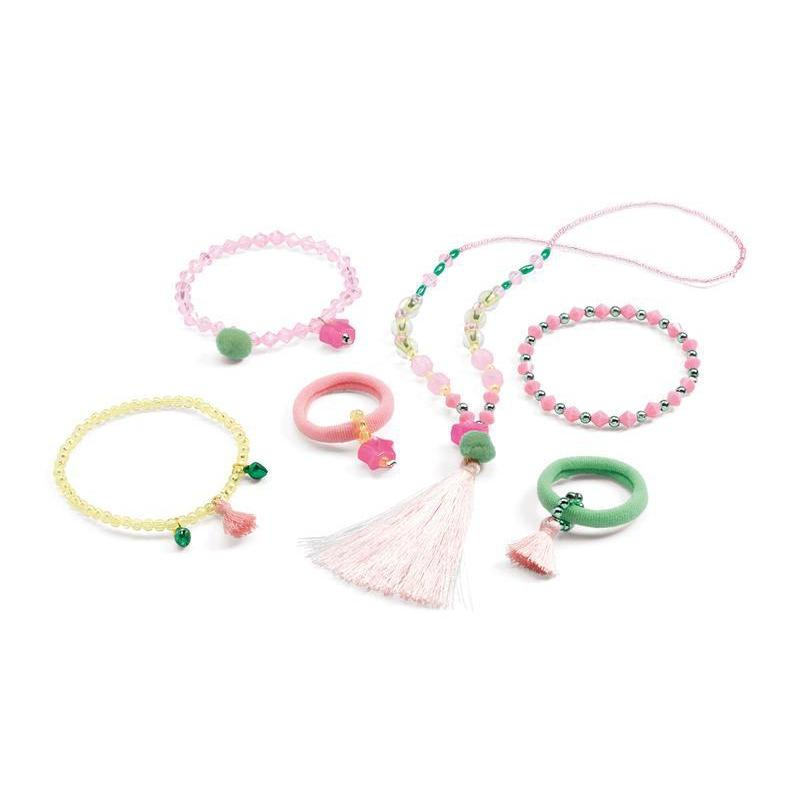 Djeco Pompoms And Stars Jewels Kids Jewellery Set