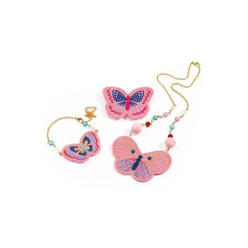 Djeco Embroidered Jewels Butterflies Set Kids Jewellery Set