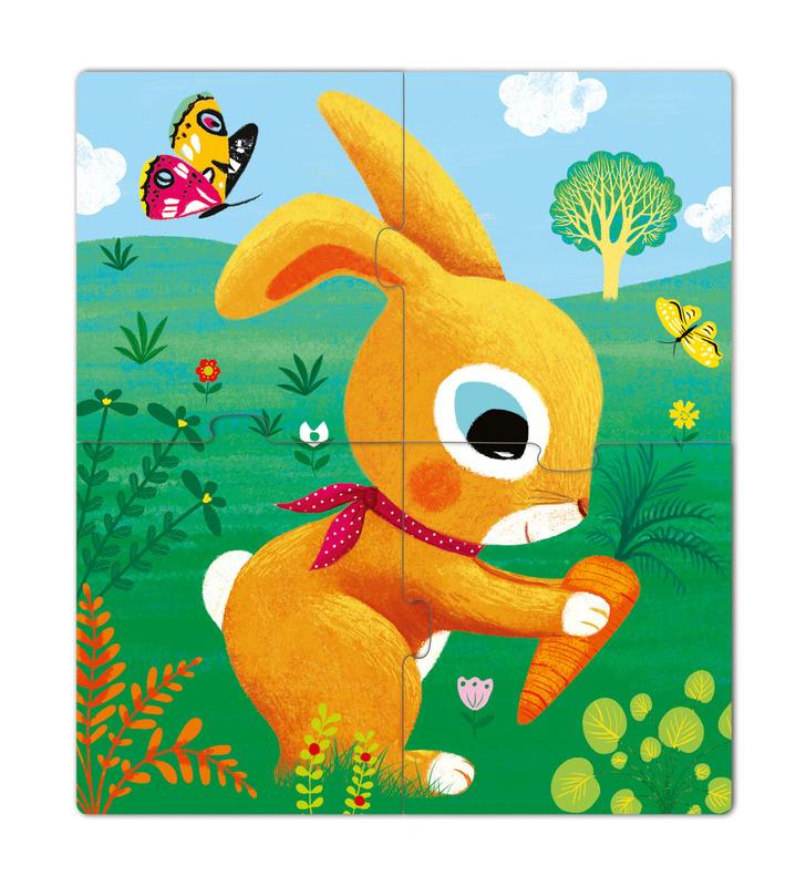 Djeco Rabbits 3,4,5pc Puzzle
