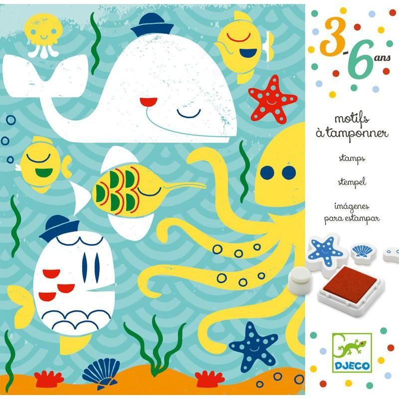Djeco Beneath The Sea Stamps