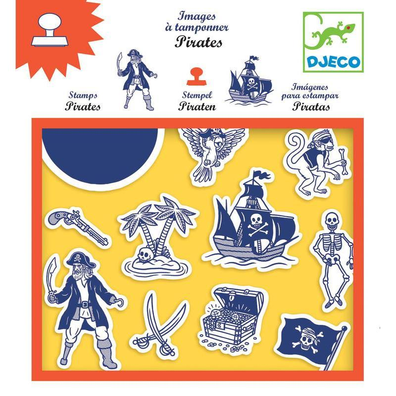 Djeco Pirates Stamps-Cubox Australia