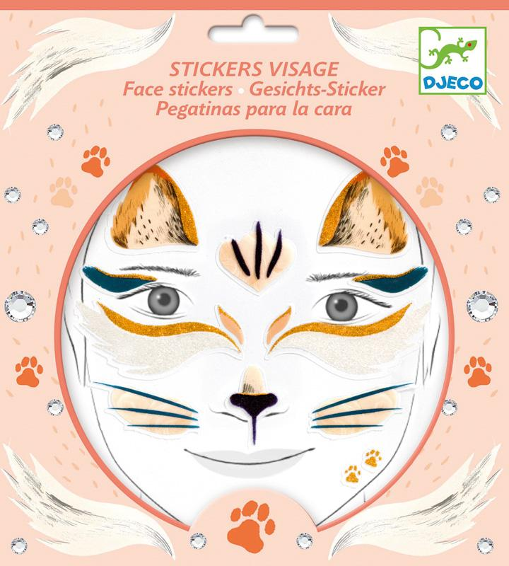 Djeco Cat Face Sticker Set