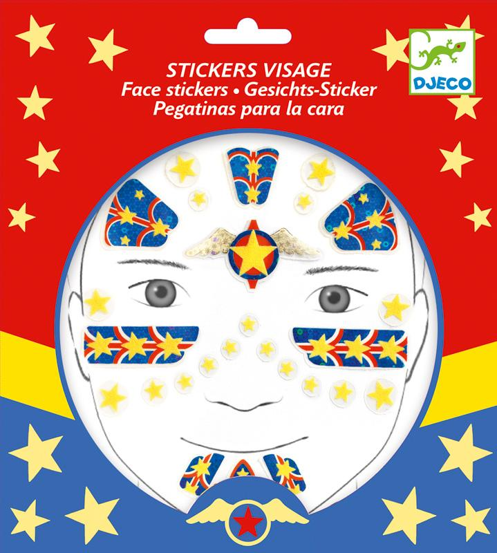 Djeco Super hero Face Sticker Set