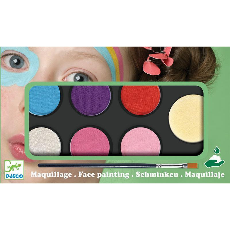 Djeco Facepaint Sweet Body Art Palette 6 Colours