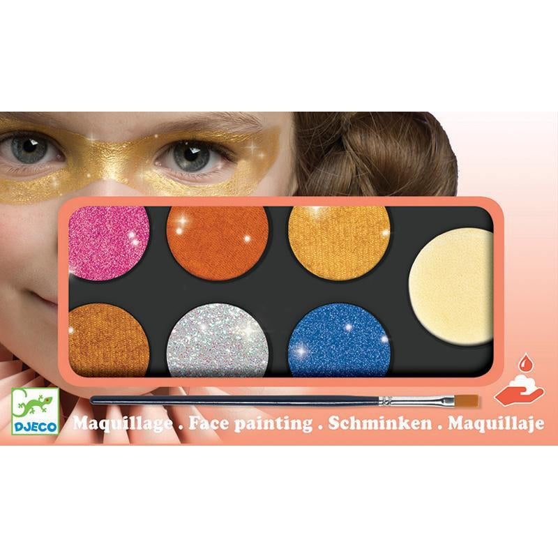 Djeco Facepaint Metallic Body Art Palette 6 Colours