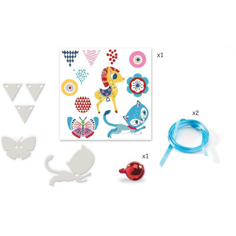 Djeco Kitten & Pony Magic Plastic Necklace