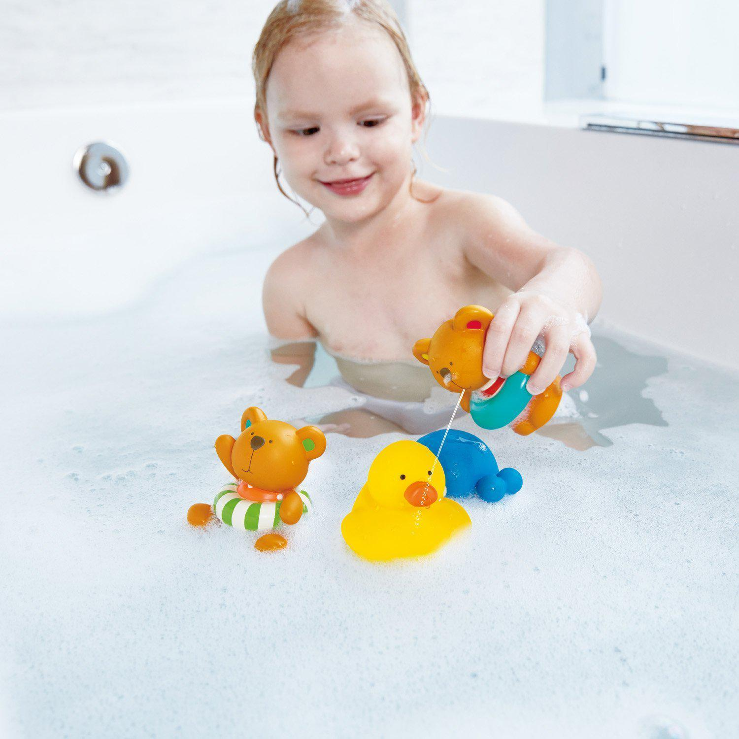 Hape Teddy and Friends Bath Squirts 5 Pieces