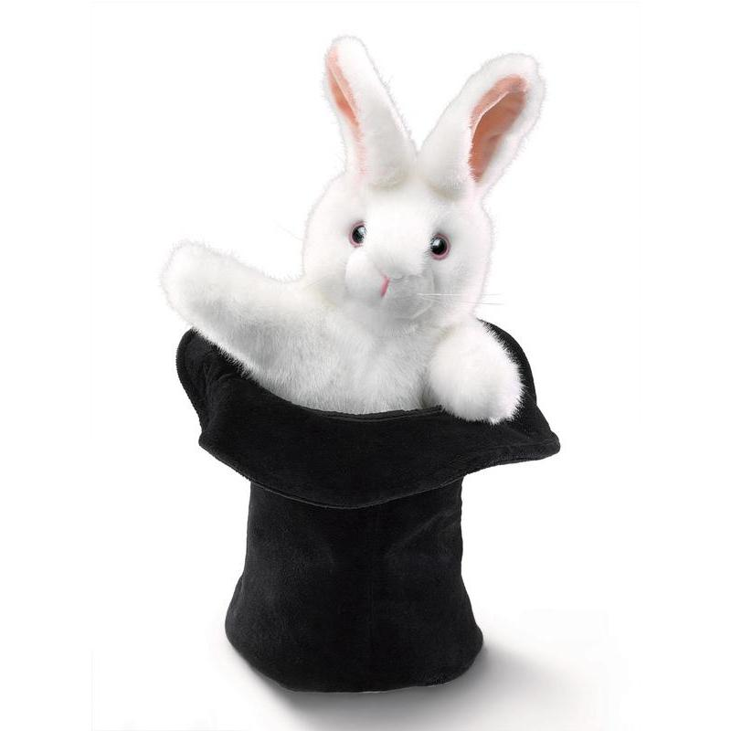 Folkmanis Rabbit In The Hat Puppet