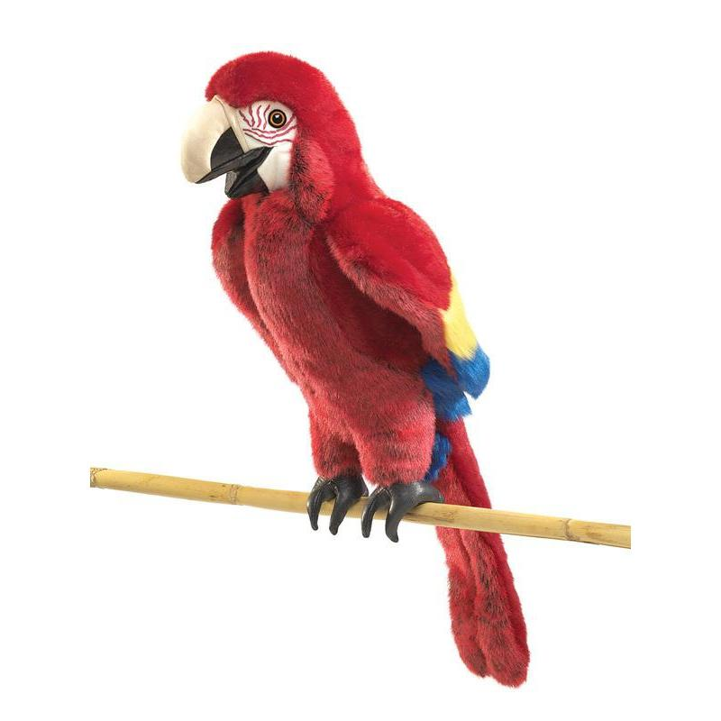 Folkmanis Scarlet Macaw Puppet