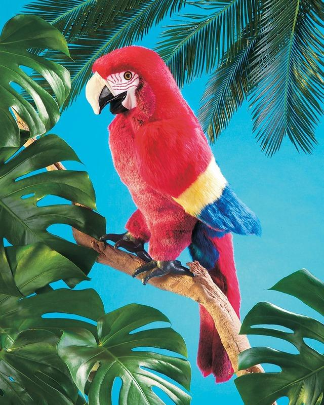 Folkmanis Scarlet Macaw Puppet-Cubox Australia
