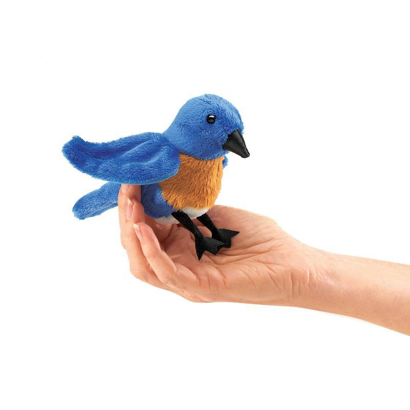 Folkmanis Mini Bluebird Finger Puppet - 3 Pack-Cubox Australia