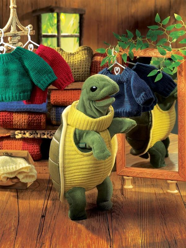 Folkmanis Turtleneck Turtle Puppet